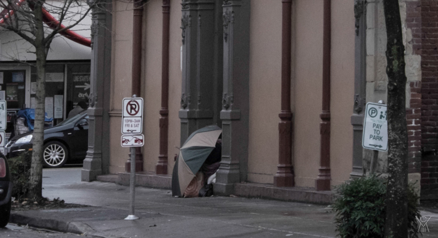 Homeless in Old Town.