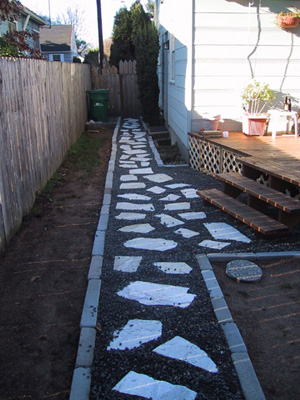 Path Completed-towards house/side door